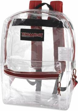 Clear Backpack With Reinforced Straps For Security & Sportin