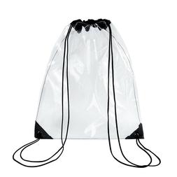 Clear Gym Drawstring Bags for Stadium, Travel - Waterproof T