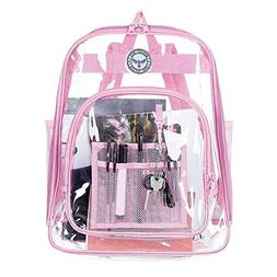 Bagail Clear See Through Backpack Heavy Duty Transparent Day