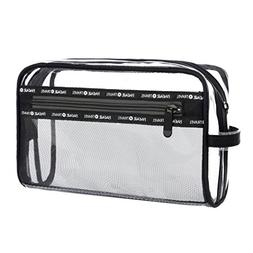 Bagail Clear Toiletry Bag Makeup Bag Carry on Transparent Co