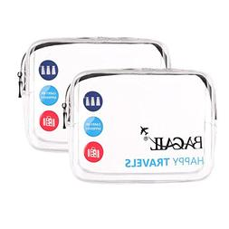 Bagail Clear Travel Toiletry Bag | Quart Sized with Zipper |