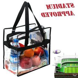 Clear Tote Bag Transparent Shoulder Purse Backpack Handbag N
