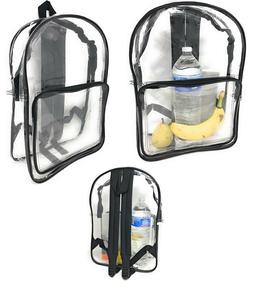 Clear Transparent Backpack Book Bag School Concerts Sports S