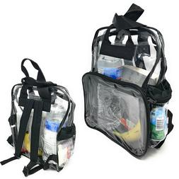 Clear Transparent Backpack Book Bag School Stadium Security