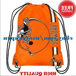 Cleveland Browns Logo Drawstring Backpack Fan Gym Sport Bag