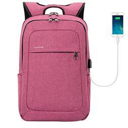 kopack Women Laptop Backpack School USB Charging Port Anti T