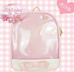 Pink color ITA Bag Transparent Backpack Anime Bag. USA ANIME