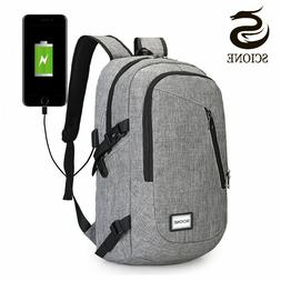 Computer Laptop USB Charging Backpack School Bag Pack Adult