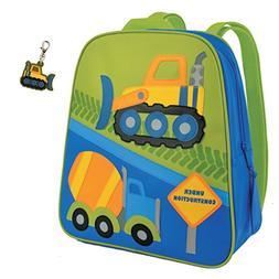 Stephen Joseph Construction Backpack with Bull Dozer Zipper