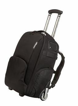 AmazonBasics Convertible Rolling Camera Backpack