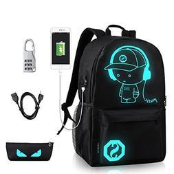 DOLIROX Luminous Schoolbag Anime School Backpack Shoulder Da