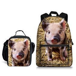 Cool Pig Laptop Backpack College Backpack School Bag Teenage
