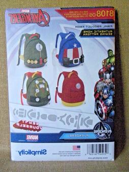 SIMPLICITY CRAFT PATTERN 8108  AVENGERS  BACKPACKS  SEW IT Y