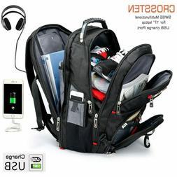 "Crossten Swiss Multifunctional 17.3"" Laptop Backpack sleeve"