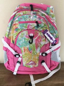 High Sierra Curve Backpack Bright Flight and Pink Lemonade