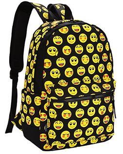 Emoji Backpack, COOFIT Kids Backpack Girls Backpack School B