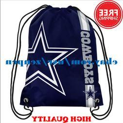 Dallas Cowboys Logo Drawstring Backpack Fan Gym Sport Bag 35