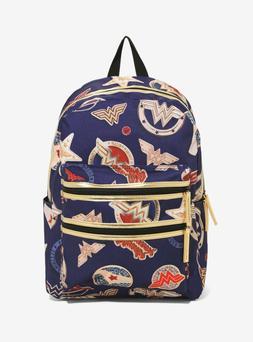 DC Comics Wonder Woman Double Zipper Pocket Backpack Brand N