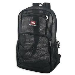 Deluxe Mesh Bungee Backpack  With Adjustable Padded Shoulder