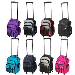 "Everest Deluxe Wheel Backpack Rolling 18"" Carry on Travel Lu"