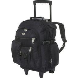 Everest Deluxe Wheeled Backpack 9 Colors Rolling Backpack NE