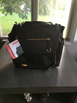 Infant Skip Hop 'Chelsea' Diaper Bag Backpack - Black