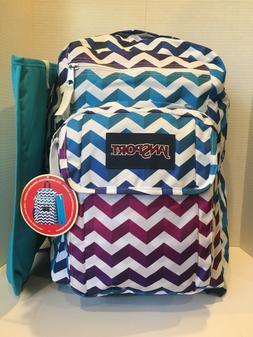 JanSport Digital Student Laptop Backpack Shadow Chevron