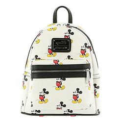 Loungefly Disney Classic Vintage Mickey Mouse Vegan White Mi