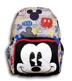 """Disney Mickey Mouse Big Face 16"""" All Over Large Size Backpac"""