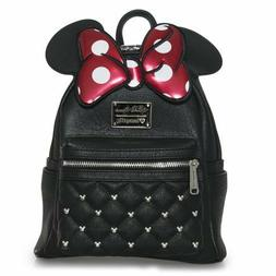 Loungefly Disney Minnie Mouse Bow Mini Faux Leather Backpack