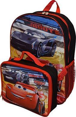 "Disney Pixar Cars Jackson & Lightning McQueen 16"" Backpack W"