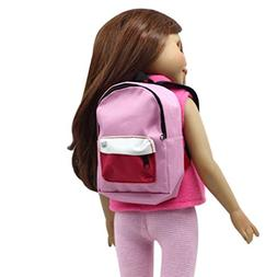 Doll Backpack,Rucan Double Straps Backpack Schoolbag For 18