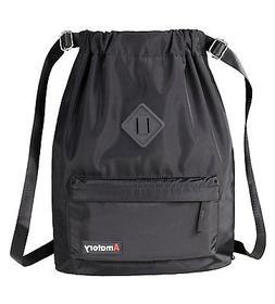 Drawstring Backpack String Bag Sports Waterproof Sackpack Gy