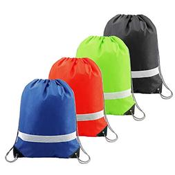 Drawstring Backpack Bags Cheap Cinch Bags, Reflective Sports