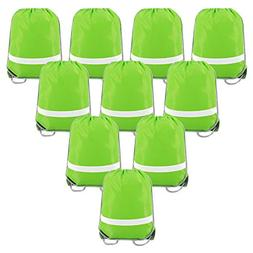Drawstring Backpack Bags Reflective Bulk Pack, Promotional S