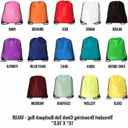 Drawstring Backpacks - Pack of 10 | Cinch Sacks - 14+ Color