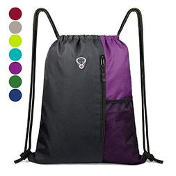 Drawstring Backpack Sports Gym Bag for Women Men Children La