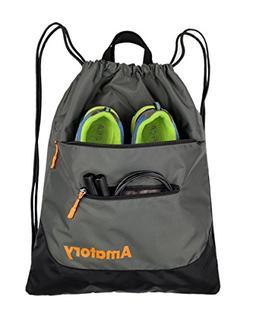 Amatory Drawstring Backpack Sports Gym Waterproof String Bag