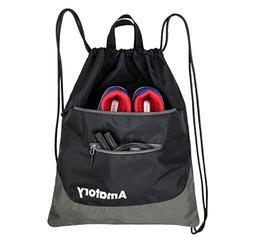 Drawstring Backpack Sports Athletic Gym String Bag Cinch Sac