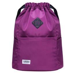 KAUKKO  Drawstring Backpacks Water-proof School Backpacks Sh