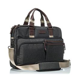 GLACIAL Executive Messenger Bag - Large Leather & Polyester