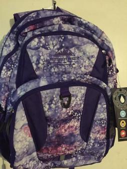 "High Sierra Expedition 18.5"" Purple Print Cymba Backpack NWT"