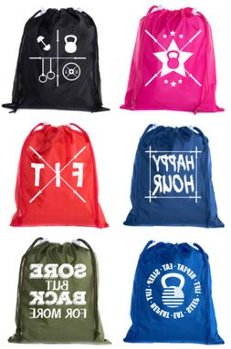 Extreme Fitness Bags, Powerlifting Drawstring Backpacks, Min