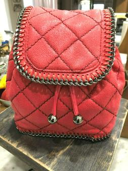 Stella McCartney Falabella Shaggy Deer Mini Quilted Backpack