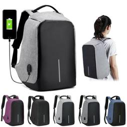 Fashion Anti-theft USB Charging Travel Backpack Laptop Noteb