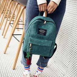 Fashion Corduroy <font><b>Backpack</b></font> Style Soft Fab