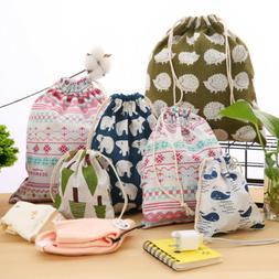 Fashion Unisex Floral Backpacks Womens Bags Drawstring Backp