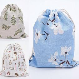 Fashion Unisex Floral Backpacks Womens Mens Bags Drawstring