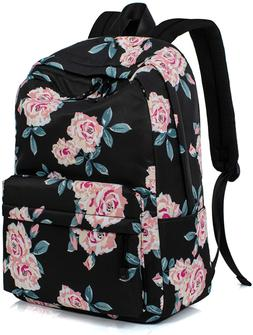 Leaper Fashion Water Resistant School Backpack for Girls Bla