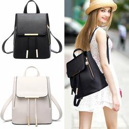 Fashion Women Backpack Travel PU Leather Handbag Rucksack Sh
